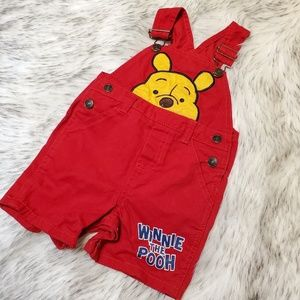 Disney Winnie the Pooh Red Overall 12M